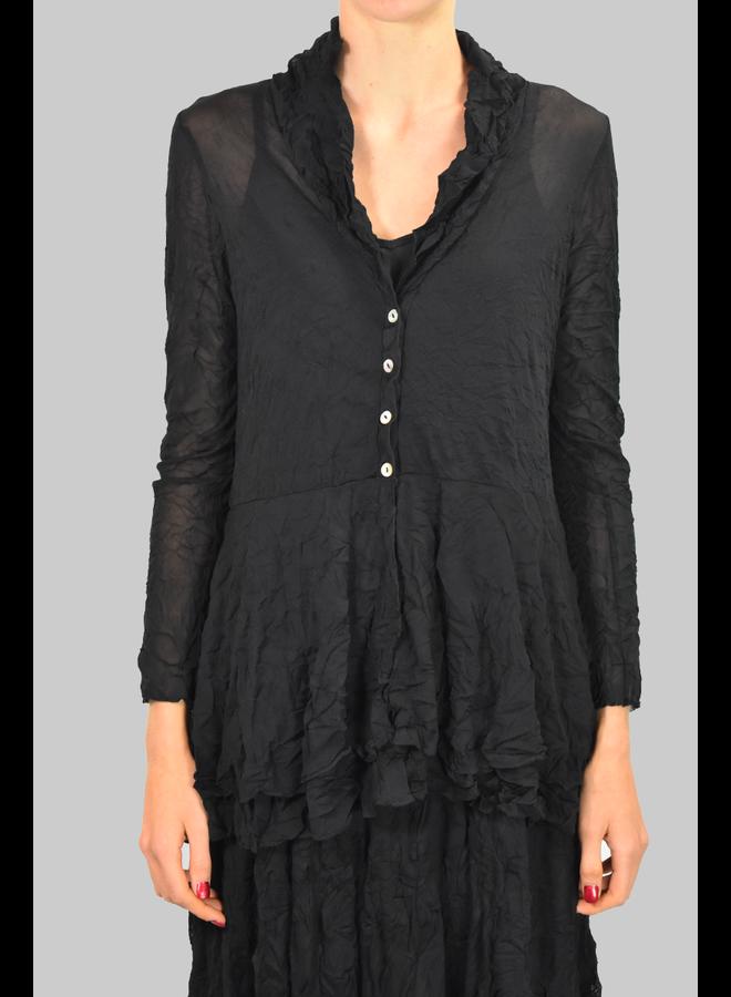 Comfy's Natalie Jacket In Black Mesh