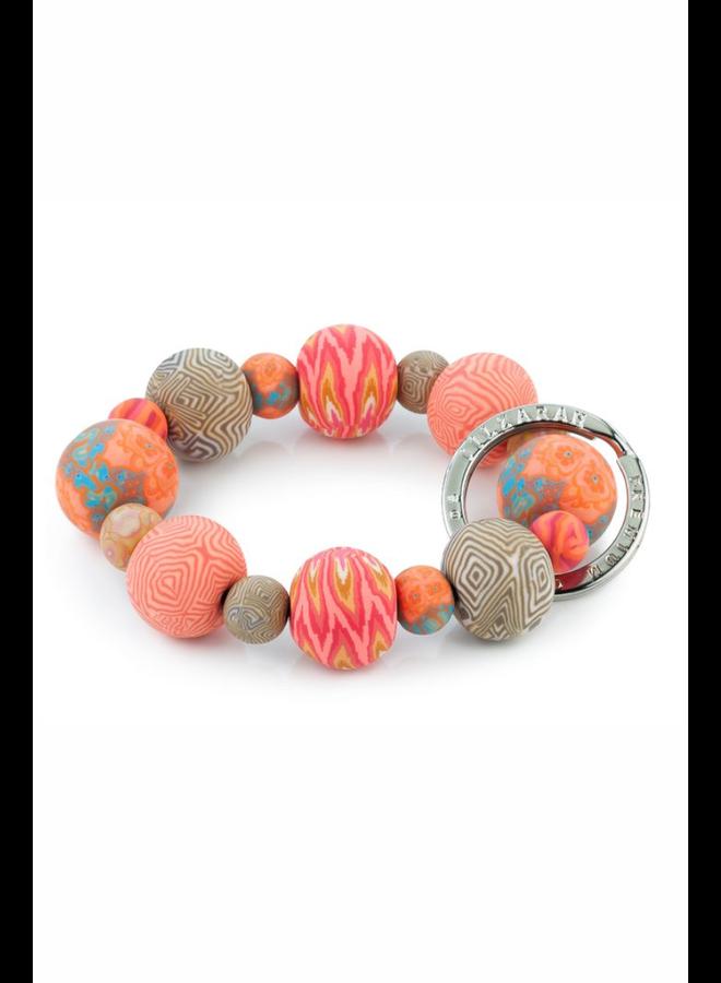 Key Bracelet In Coral Crush