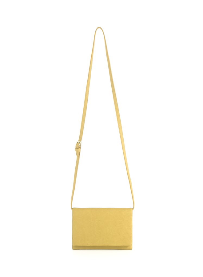 Gigi Cross Body Wallet In Yellow