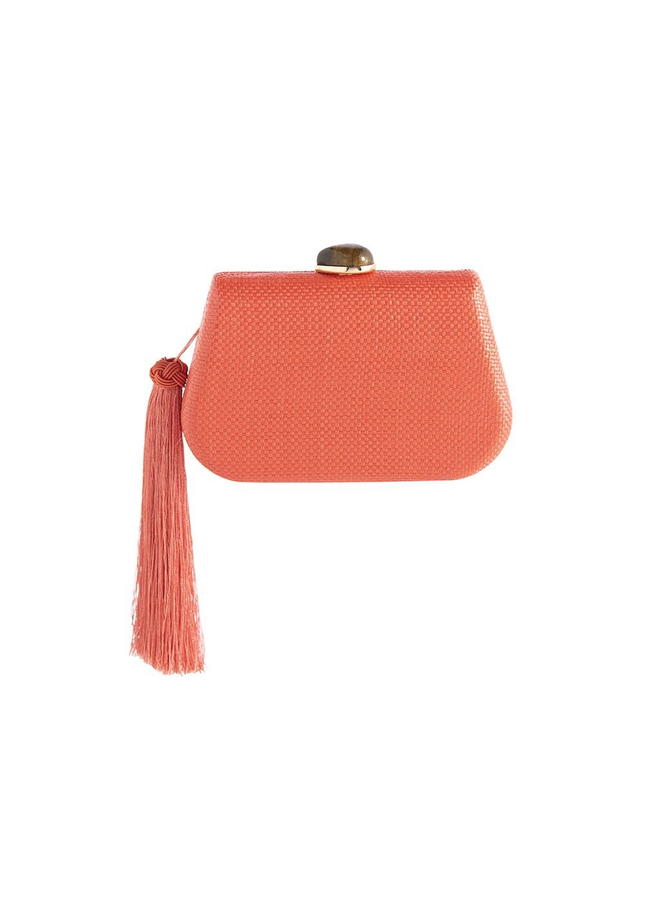 Aria Minaudiere Bag In Coral
