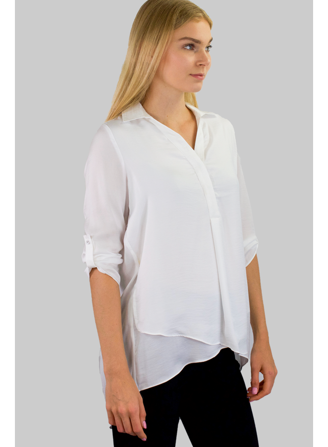 Renuar Soft And Beautiful Blouse In White