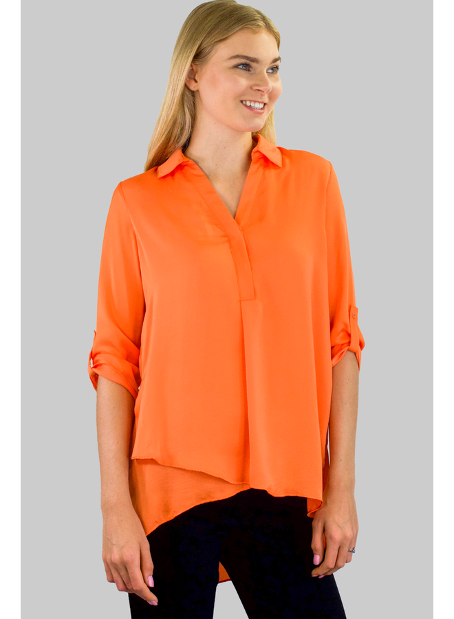 Renuar Soft And Beautiful Blouse In Cantalope