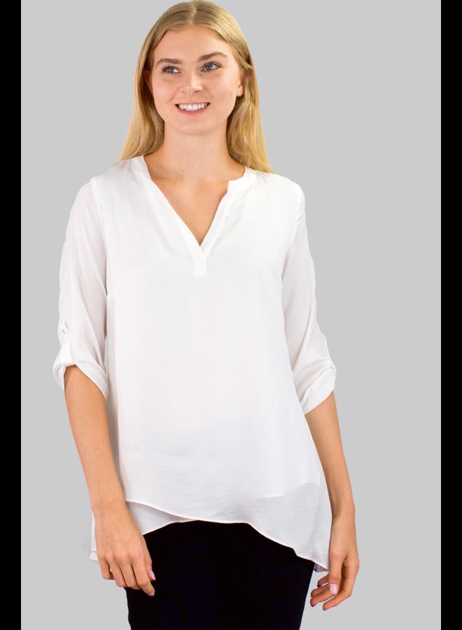 Renuar's Soft As Silk Blouse In White