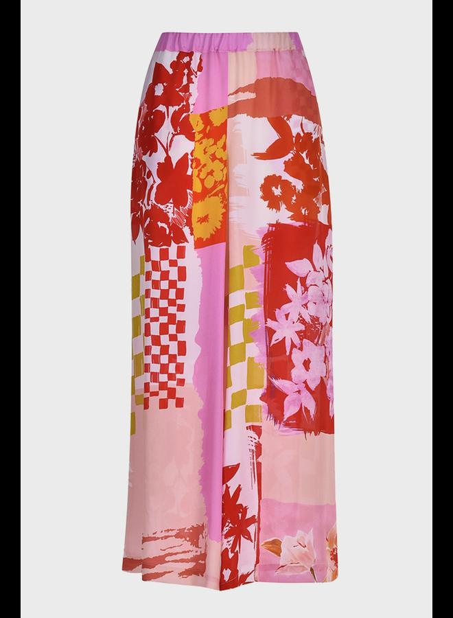 Alembika Wide Leg Pink Print Pant