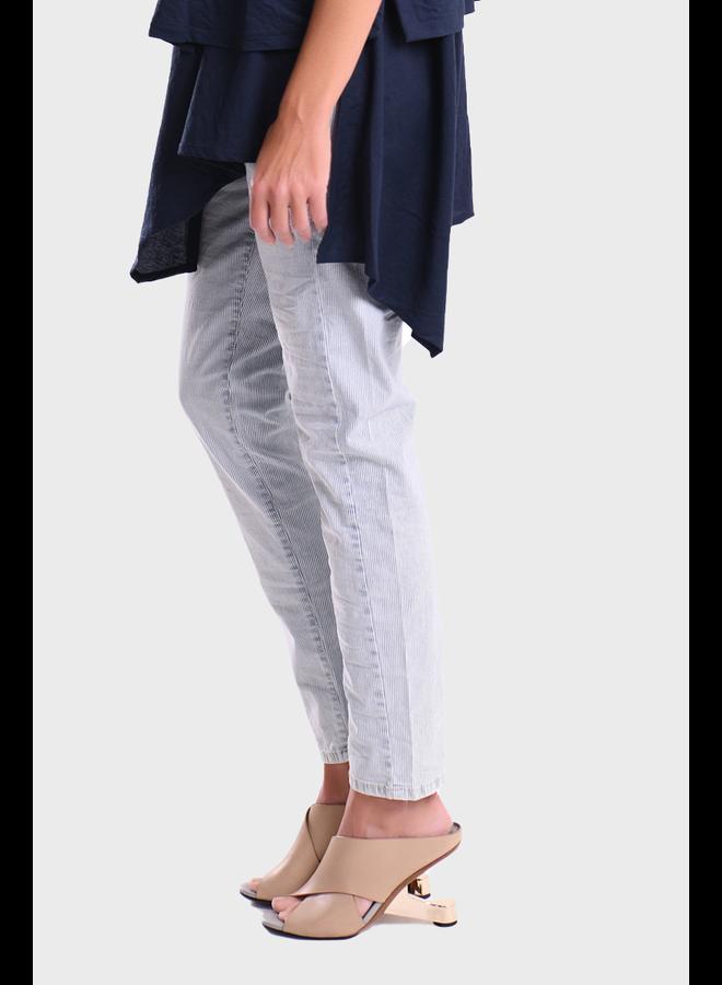 Alembika Striped Denim Drawstring Pants