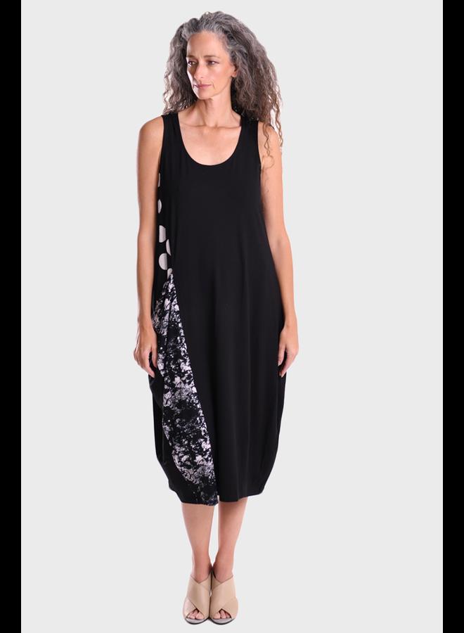 Alembkia Mixed Media Pocket Dress