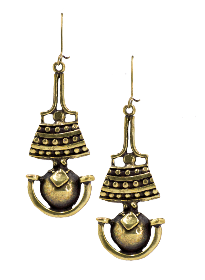 Perga Earrings In Bronze