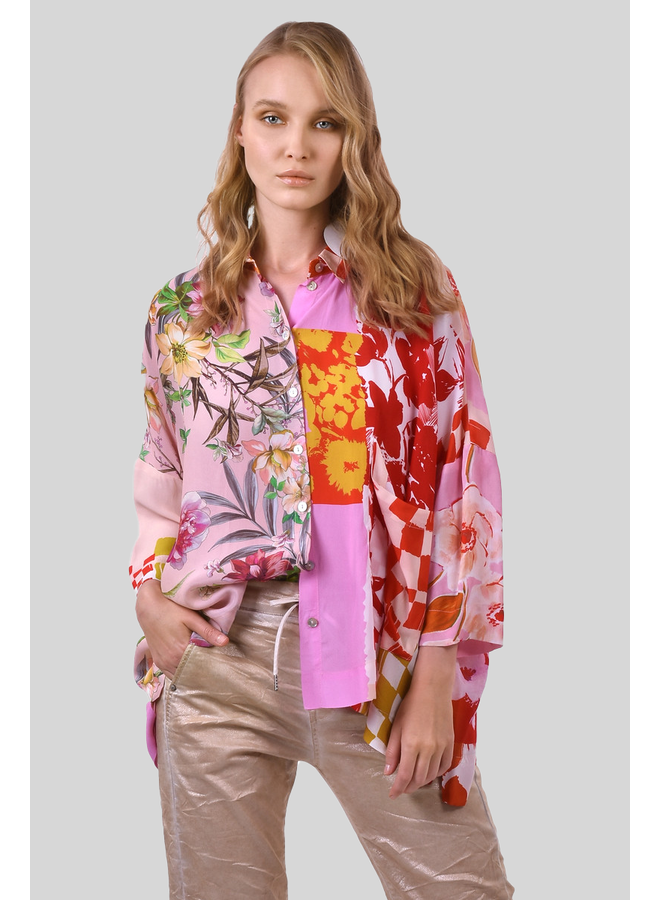 Alembika Button Down Blouse In Blossom