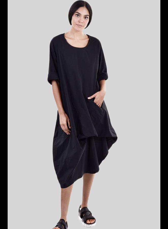 Alembika Black Asymmetrical Tunic/Dress