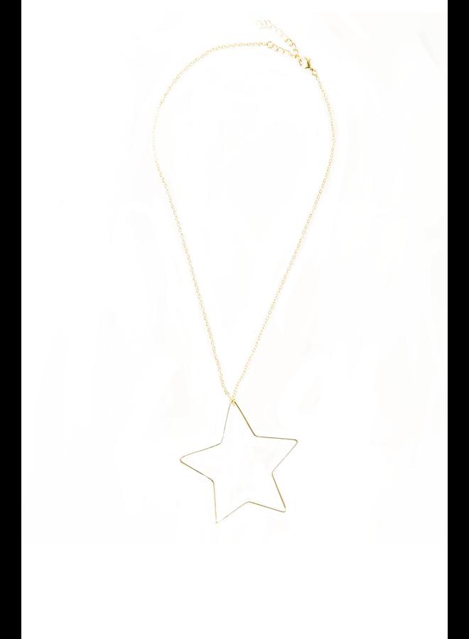 Ink + Alloy Brass Star Necklace