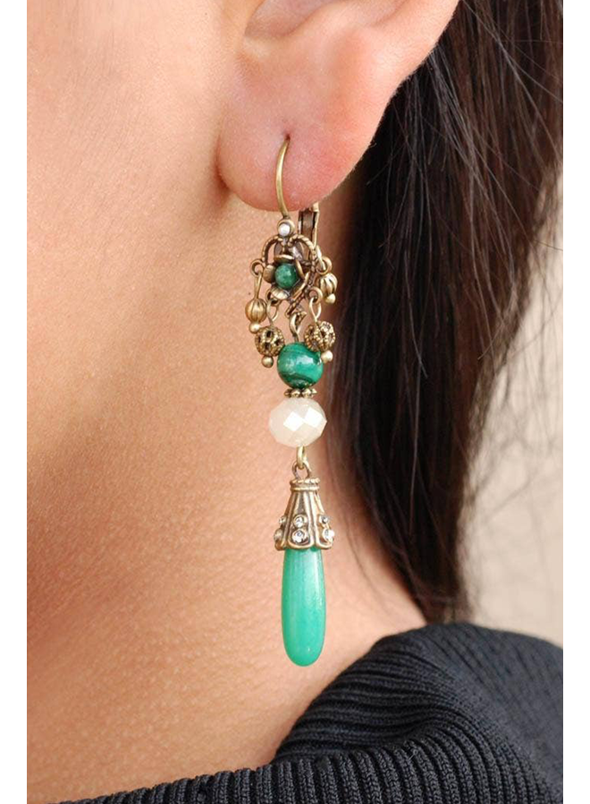 Sweet Romance Vintage Jadeite Earrings