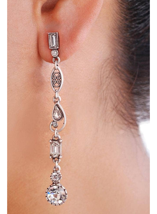 Sweet Romance Linear Galaxy Earrings