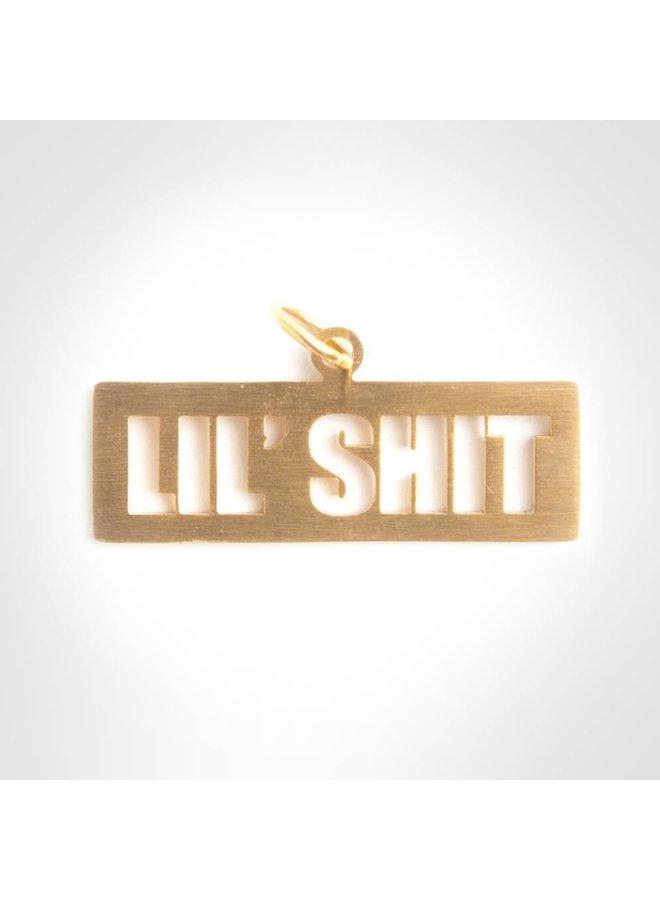 Lil' Shit Gold Pet Tag