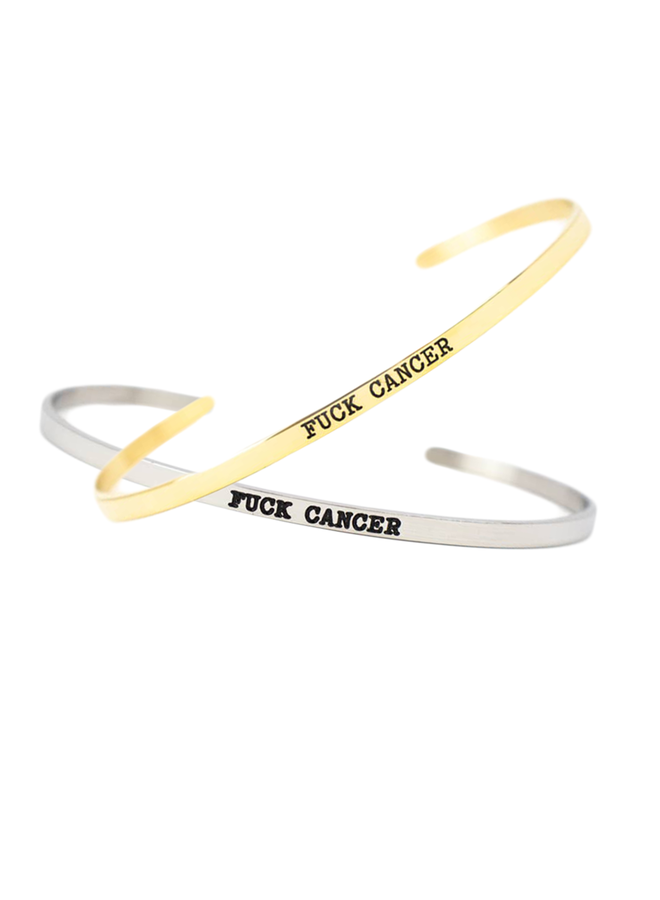 F*** Cancer Dainty Bracelet