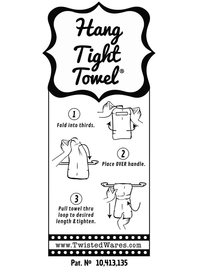 Let's Drink & Talk Hang Tight Towel