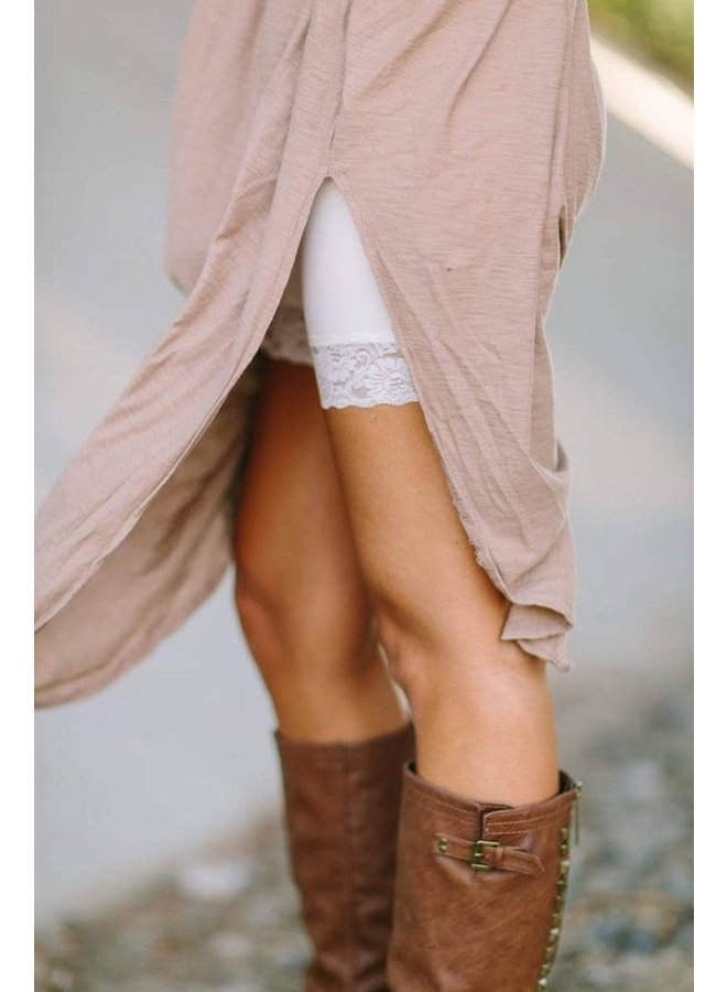 Lace Peek Layering Shorts