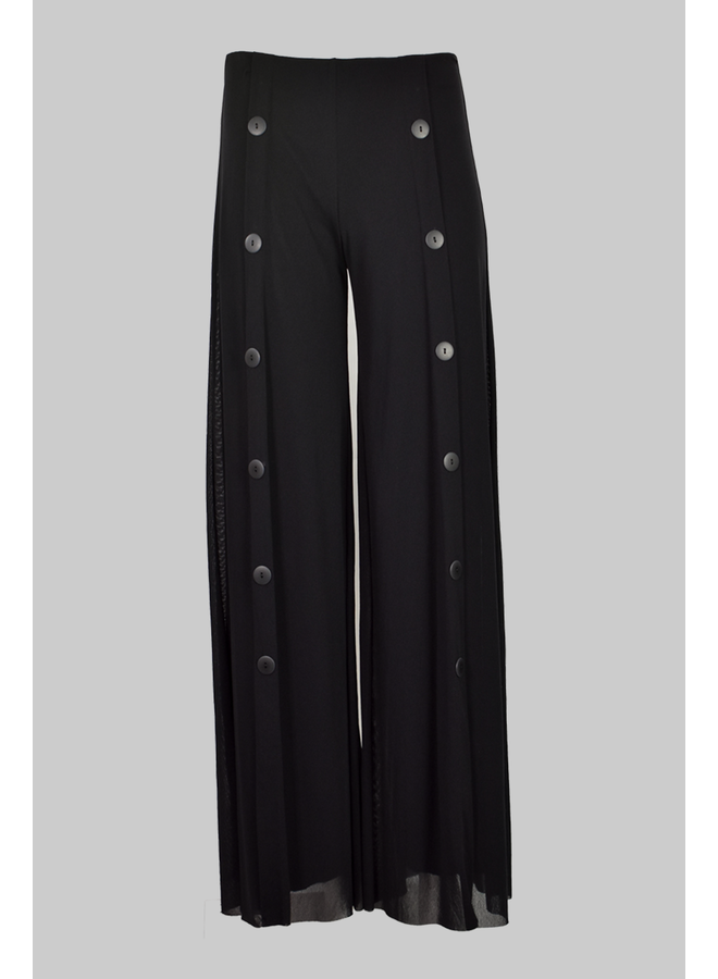 Petit Pois Palazzo Sailor Pant In Black