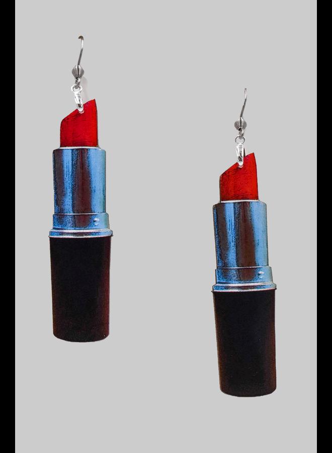 Lipstick Make Up Earrings