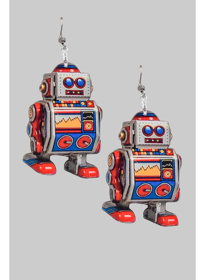 Toy Robot Earrings
