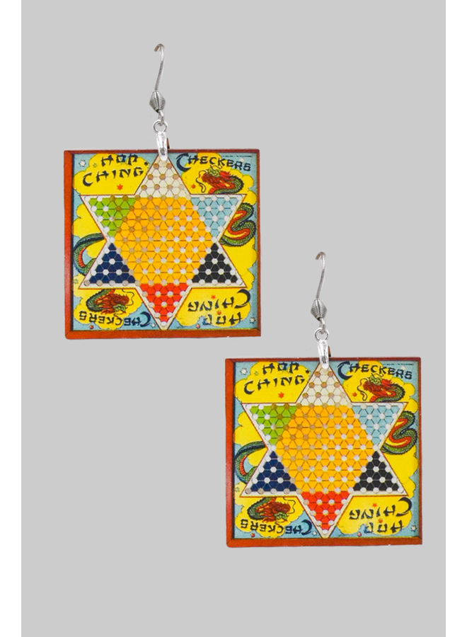 Chinese Checkers Earrings