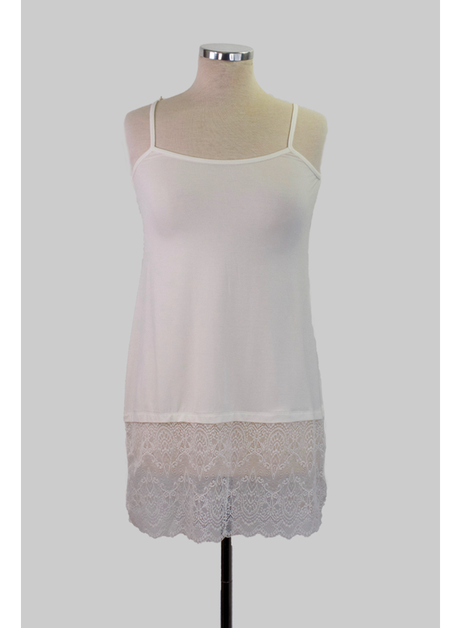 Lace/Slip Extender In Ivory