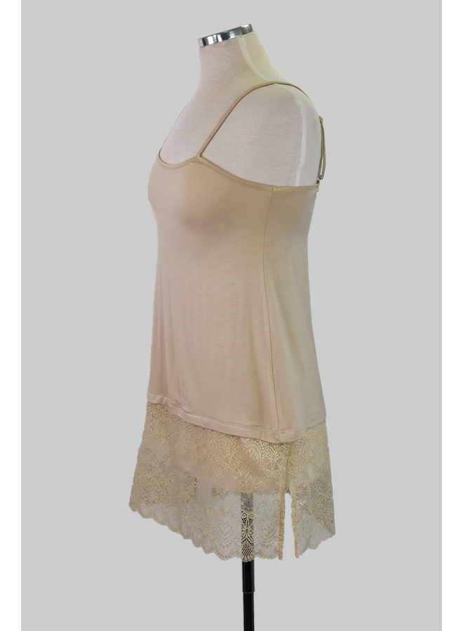 Lace/Slip Extender In Nude