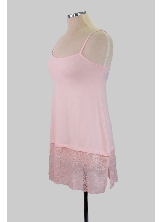 Lace Extender Slip In Pink