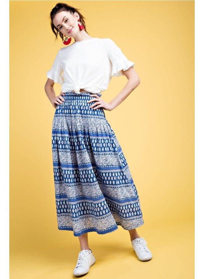 Boho Skirt In Blues