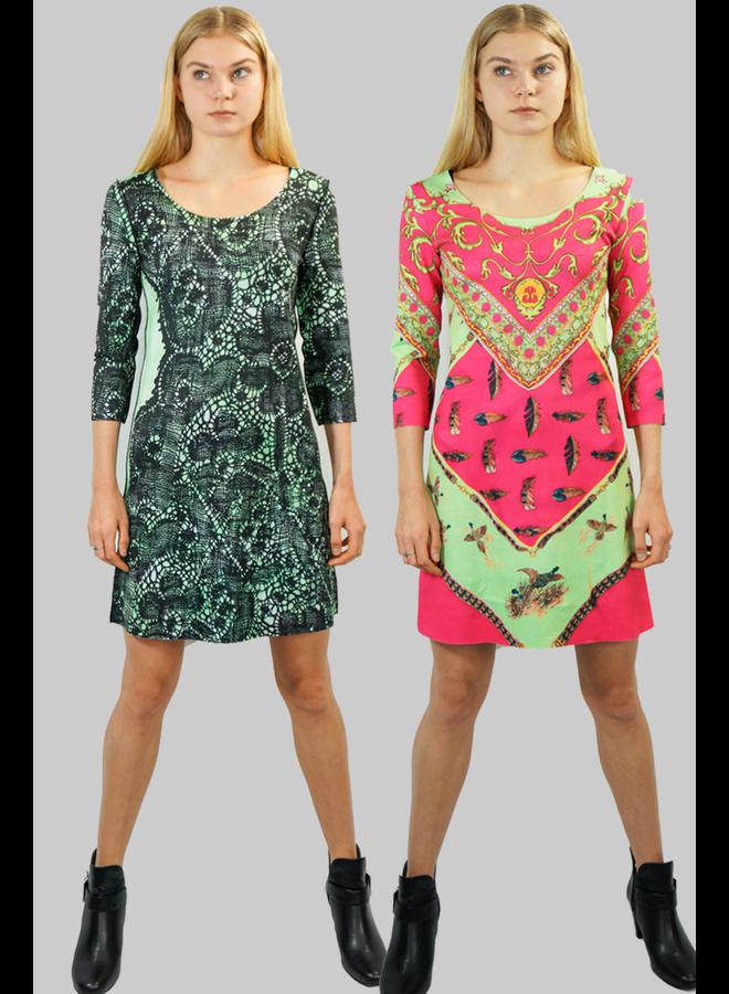 Animapop Feathers & Lace Dress