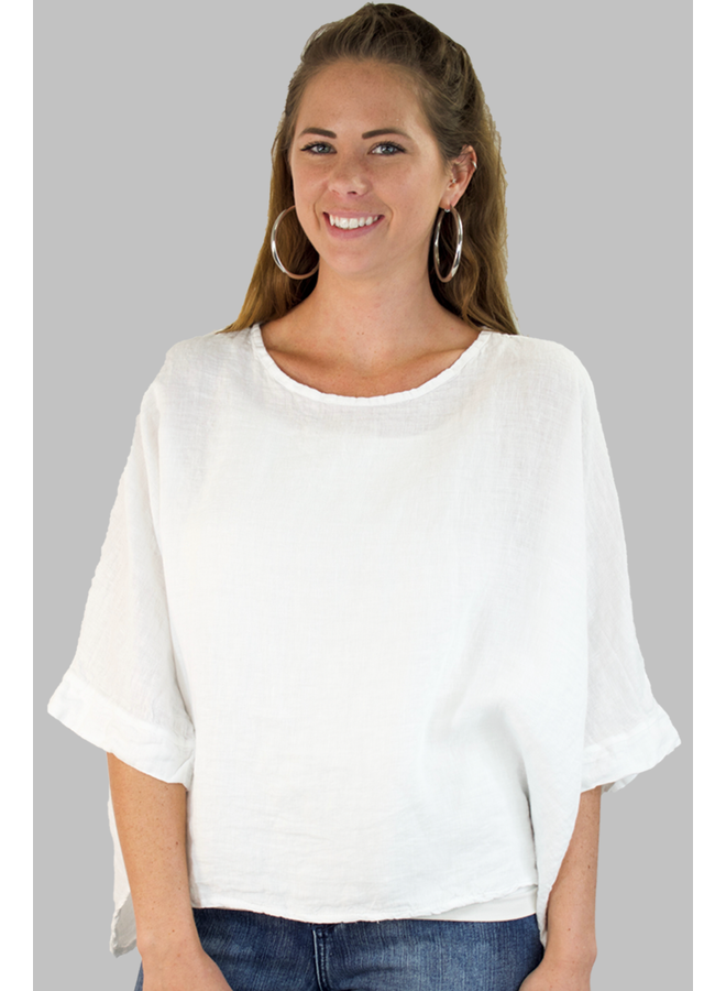 Italian Linen Box Top In White