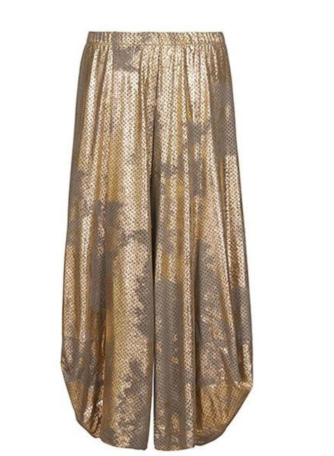 Alembika Punto Pant In Preforated Gold