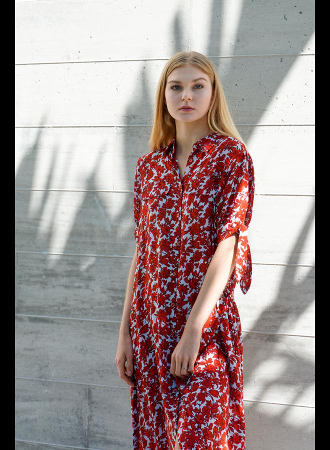 Traffic People's Fools Floral Maxi Shirt Dress