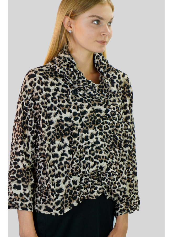 Comfy's Milan Jacket In Animal Crepe De Chine