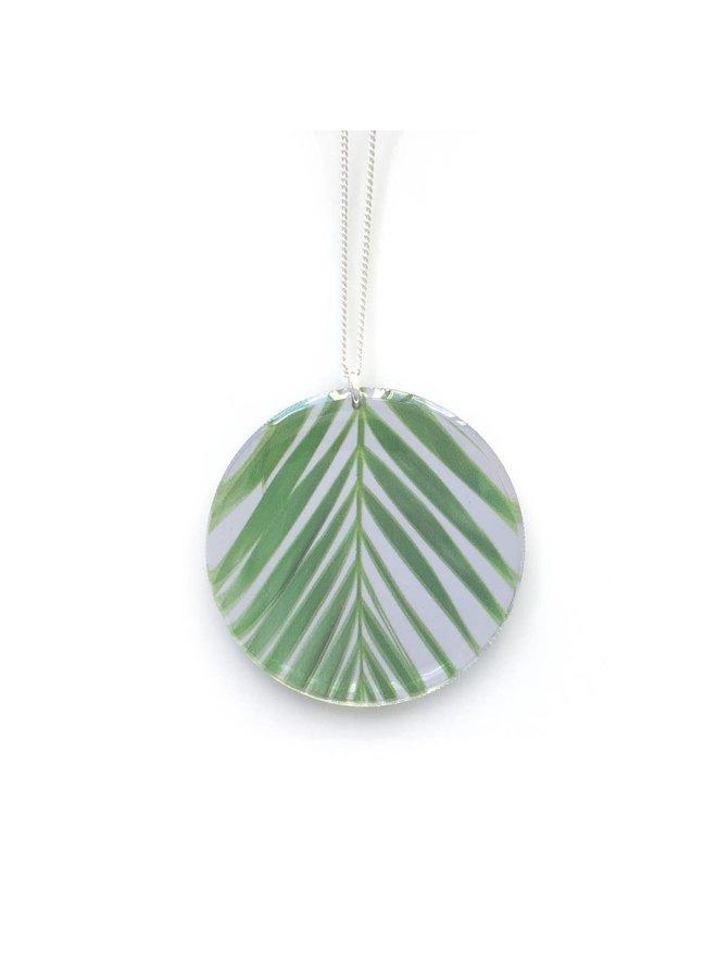 Black Drop Round Palm Necklace