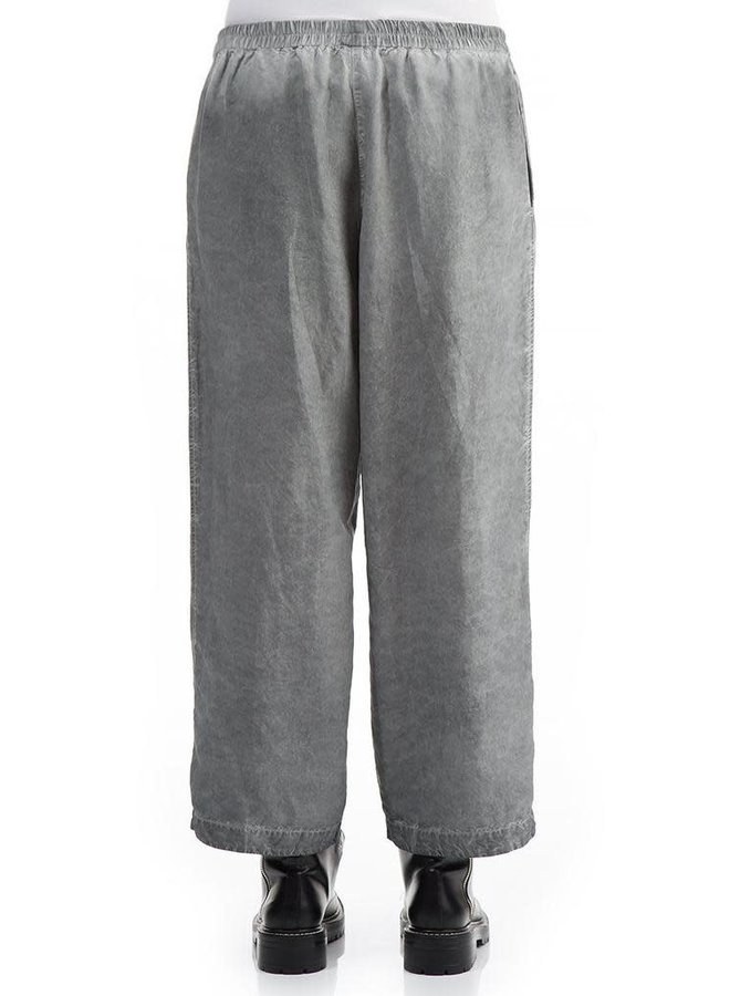 Grizas Washed Out Silk Trousers In Ash Grey
