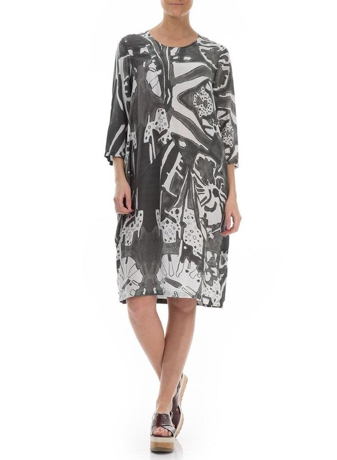 Griza's Bubble Dress In Psychedelic Print