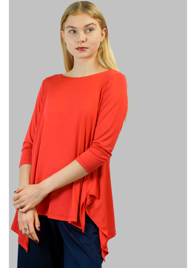 Comfy Vancouver Tunic In Palm Beach Red