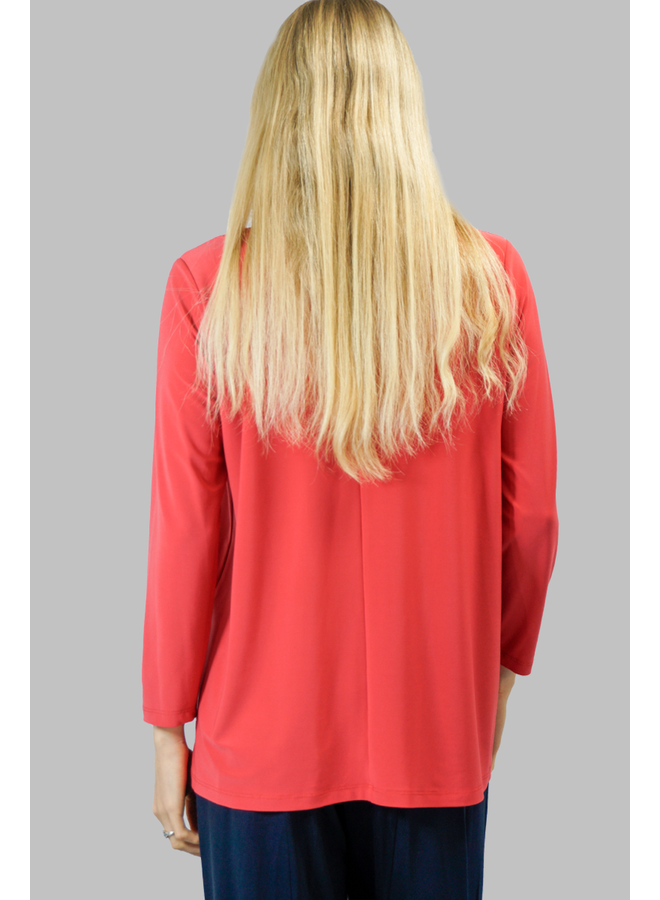 Comfy's Sun Kim Tunic In Palm Beach Red