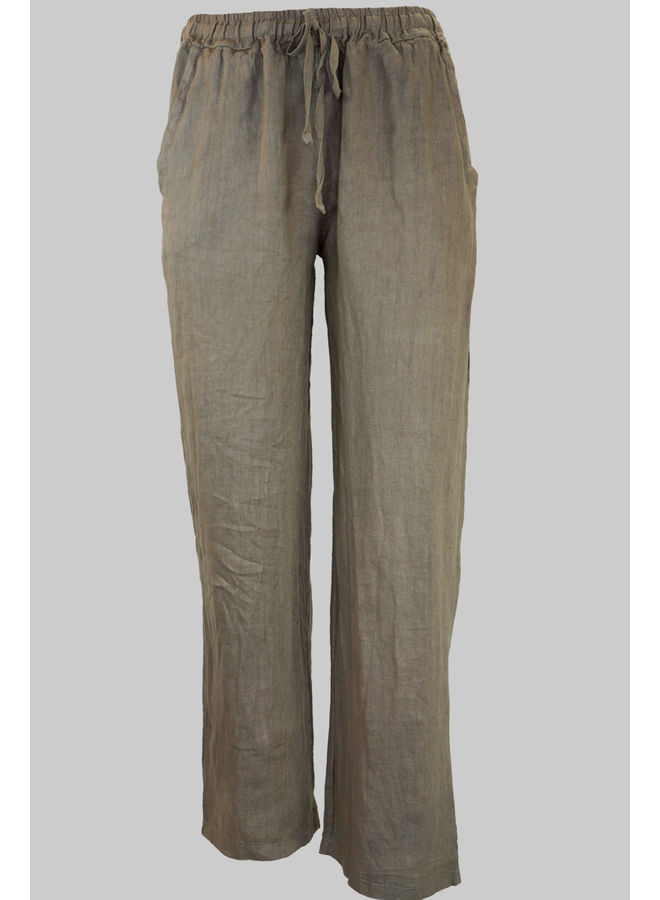 Linen Trousers In Taupe