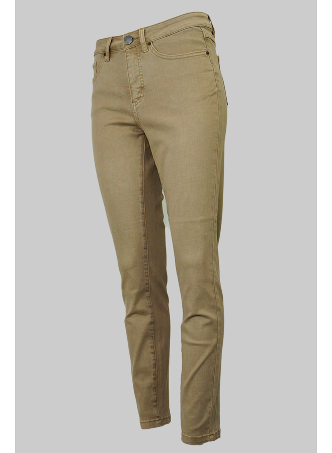 French Dresssing Olivia Slim Ankle Pant In Khaki