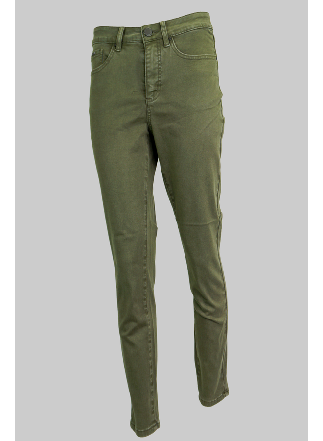 French Dressing Olivia Slim Ankle Pant In Olive
