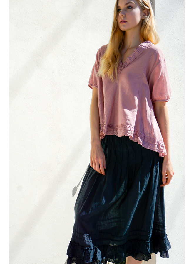 J.P. & Mattie's Pleated Bedhead Skirt In Black