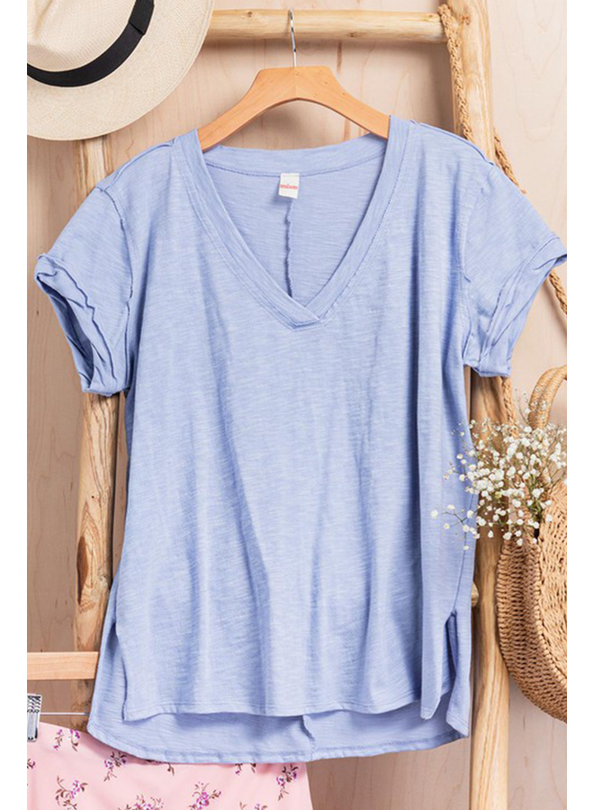 Vintage Washed V-Neck Tee