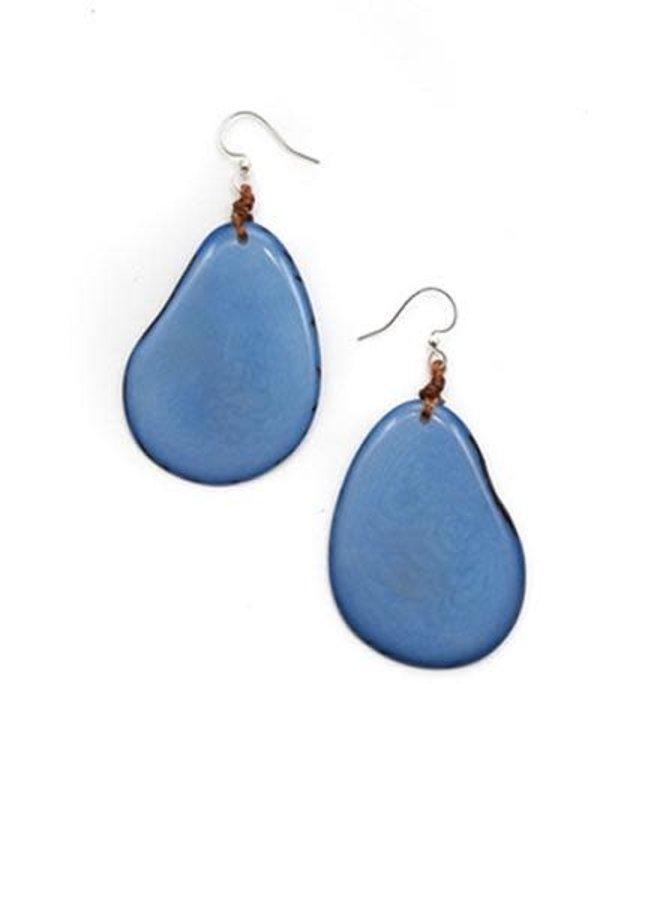 Tagua Amigas Earrings In Biscayne Blue
