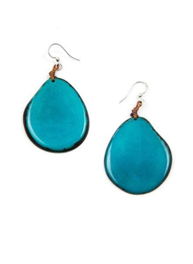 Tagua Amigas Earrings In Turquoise