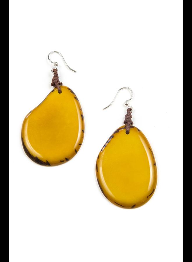 Tagua Amigas Earrings In Yellow