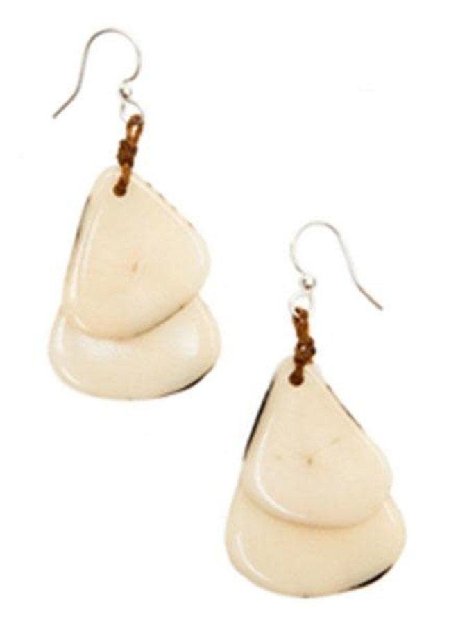 Tagua Fiesta Earrings In Ivory