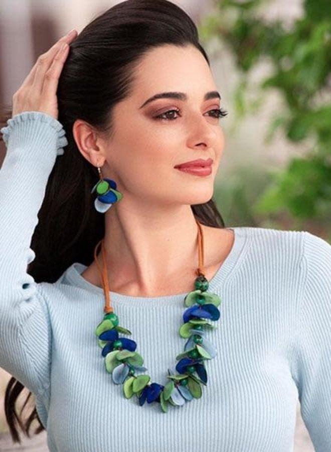 Tagua Mariposa Earrings In Multi