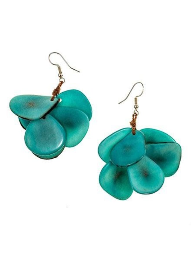 Tagua Mariposa Earrings In Turquoise