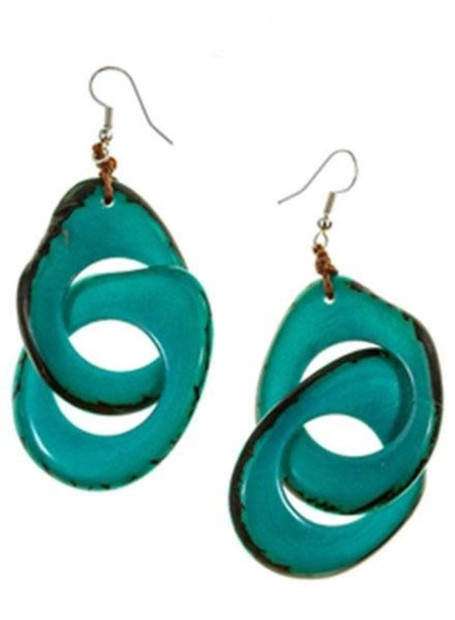 Tagua Miche Earrings In Turquoise